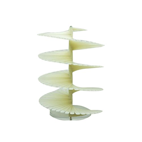 Spiral Fan Shape Display Stand Holder for 120pc False Nail Art Tips Stick Natural
