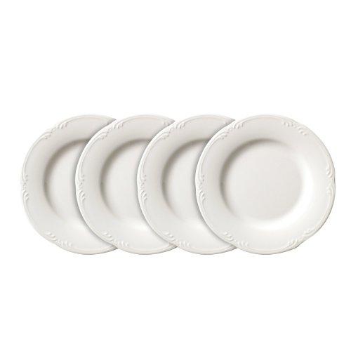 Pfaltzgraff Filigree Luncheon Plate (9-Inch, Set of 4), White