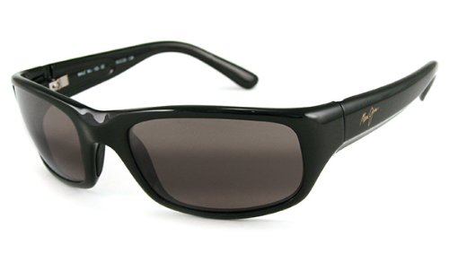 Maui Jim Stingray Sunglasses,Gloss Black Frame/Neutral Grey Lens,one - Maui Jim Stingray