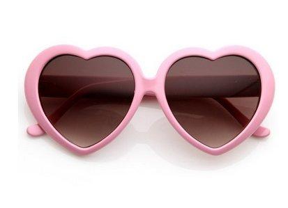 de Sol rosa Gafas Forma Bravehope par Love con Marco 1 de Gafas Sol de Sol corazón Rojo Gafas de qqIY7w