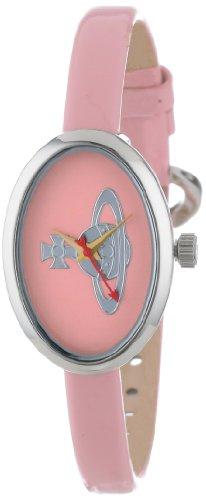 Vivienne Westwood Women's VV019LPK Medal Swiss Quartz Light Pink Leather Strap Watch