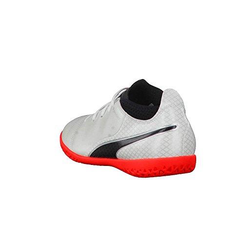 Puma One 17.4 It Jr, Zapatillas de Fútbol Unisex Niños Blanco / negro / rojo
