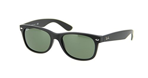Ray Ban RB2132 622 52 Black Rubber New Wayfarer Sunglasses Bundle-2 - 622 New Rb2132 52 Wayfarer