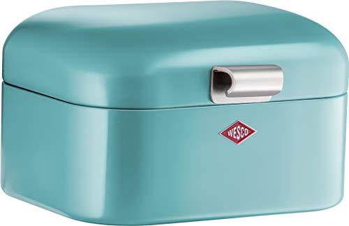 (Wesco Mini Grandy, Breakfast Box, Lunch Box, Sandwich Box, Turquoise, Steel Sheet, 235001-54)