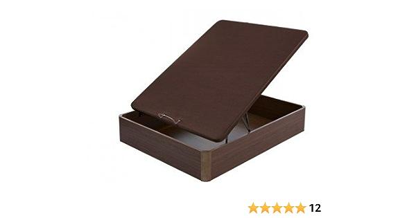 Flex - Canapé Abatible Madera Transpirable Tapa 3D - 90X200, Color Cerezo