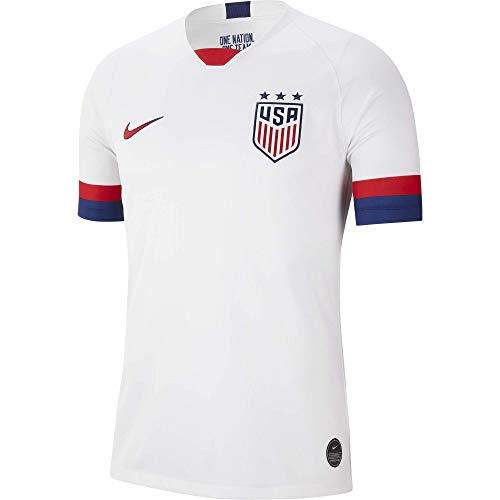 Nike USA 2019 Youth Home Jersey (White, Youth Medium) (Children Clothing For Soccer)