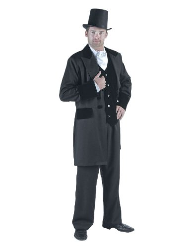 Gone With Wind Costumes (Men's Rhett Butler Suit Theater Costume, Black,)