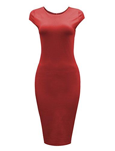 Tom's Ware Womens Stylish Zip Up Cap Sleeve