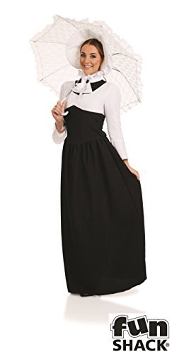 Extra Large Ladies Victorian Woman Costume for Edwardian Dickensian Cosplay Fancy Dress by Partypackage Ltd