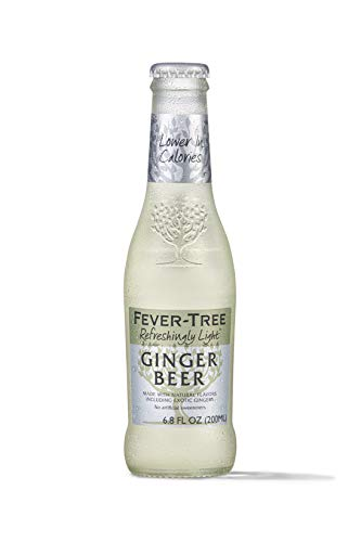 Fever-Tree Refreshingly Light Ginger Beer Glass Bottles, No Artificial Sweeteners, Flavorings & Preservatives, 6.8 Fl Oz (Pack of 24)