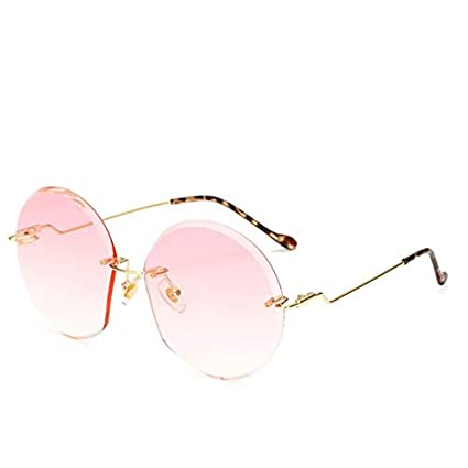 Amazon.com: Kasuki Luxury Rimless Oversized Sunglasses Women ...