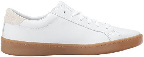 Keds Dames Ace Lederen Fashion Sneaker Wit / Gom