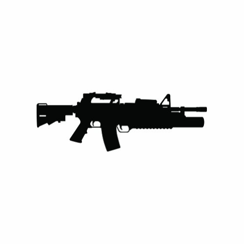 M4 w/ M203 Grenade Launcher - Sticker - Decal - Die for sale  Delivered anywhere in USA