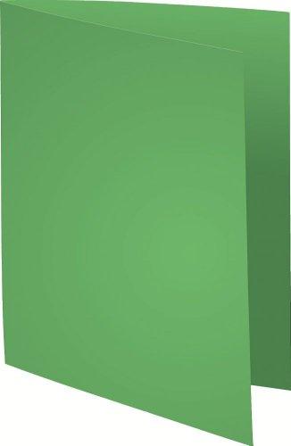 Exacompta 410013E Aktendeckeln (Recycling-Karton, 250g, Foldyne Forever, DIN A4) 100er Pack lindgrün