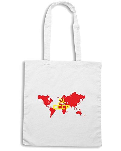 T-Shirtshock - Bolsa para la compra TCO0042 cccp-communist Blanco