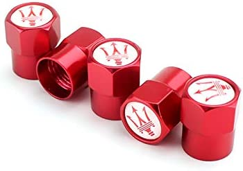 HiSport Laser Logo Red 4pcs Universal Car Tire Valve Stem Caps Air Cover Fit Acura Accessories