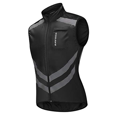 CUTICATE Reflective Vest Running Gear for Men – Ultralight & Comfy – Motorcycle Hi Viz Safety Vest with Zipper Pocket…