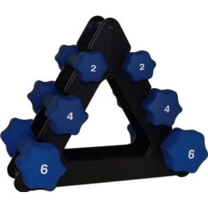 Neoprene Dumbbell Set- 1,2,3,4,5 & 6 Lb Pairs w/2 Racks Review