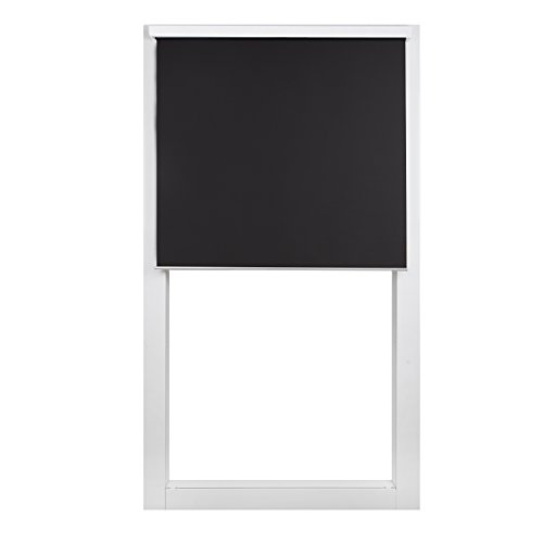 """SCHRLING Daylight Roller Shades 48"""" W x 72"""" L Black Light Filtering Window Blind with White Valance, Custom Size"""