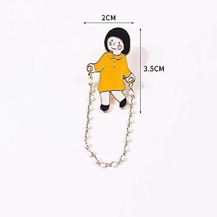 Xiongz Broche Art Mignon Dessin Animé Fraîche Petite Fille
