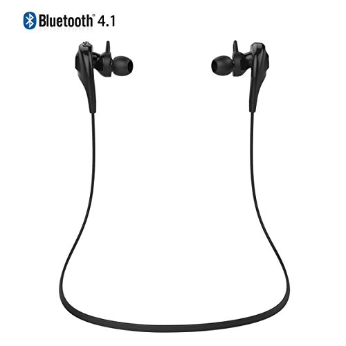 Anglink Newest Mini Lightweight Wireless Stereo Bluetooth 4.1 Sweatproof Earbuds Earpiece Headset Headphones w/Microphone-Handsfree for iPhone 6 Plus, 6, 5S, 5C, 5, 4S, 4, iPods, HTC One, iPad Mini, Samsung Galaxy Note 3, Note 2, S5 S4, S3, S2, LG Optimus, PC, Tablets, LG and all Bluetooth enabled audio devices Featuring Sports Use/Running/Jogging, AptX, In-ear Design , CVC6.0 Noise Cancellation (Black)
