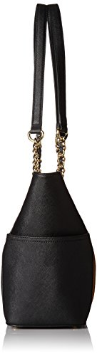Saffiano Klein Shoulder Handbag Calvin Chain Tpe Combo Tote Women's Metallic qBf47H