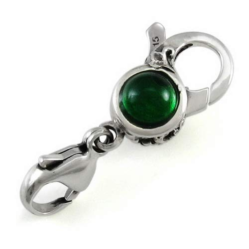 Ohm Bead Green Crystal Clasp