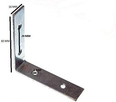 48 x CORNER BRACE//BRACKET BZP STEEL 63MM 2.5