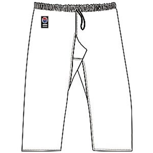 ProForce Gladiator 8oz Karate Pants w/Elastic Waist - Black - Size 6