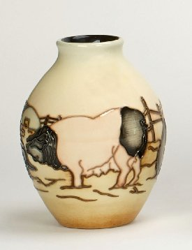 Moorcroft Pottery - Limousin Pigs - Limited Edition of 50