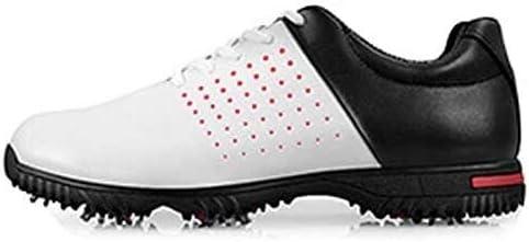 すべり止めゴルフシューズ、屋外の防水と通気性カジュアルシューズ (Color : White, Size : 43EU)