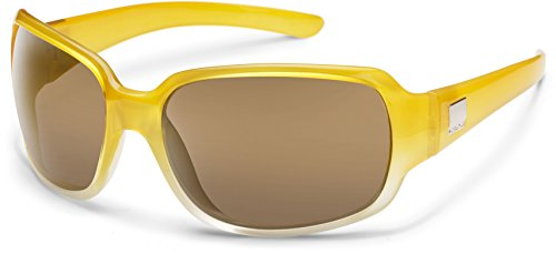 Suncloud Cookie Polarized Sunglasses, Yellow Fade Frame, Sienna - Smith Sunglasses Polarized