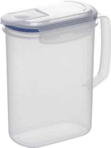 Emsa 506773 Kühlschrankkanne, Tropffreier Ausgießer, Volumen 1.5 Liter, Transparent, Clip & Close