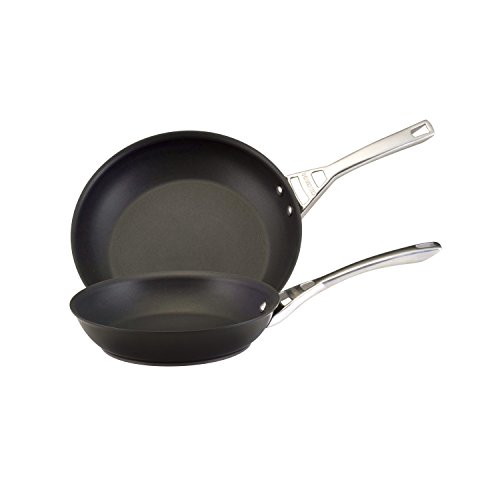 Infinite Circulon Hard Anodized Nonstick Skillet Twin Pack, Black