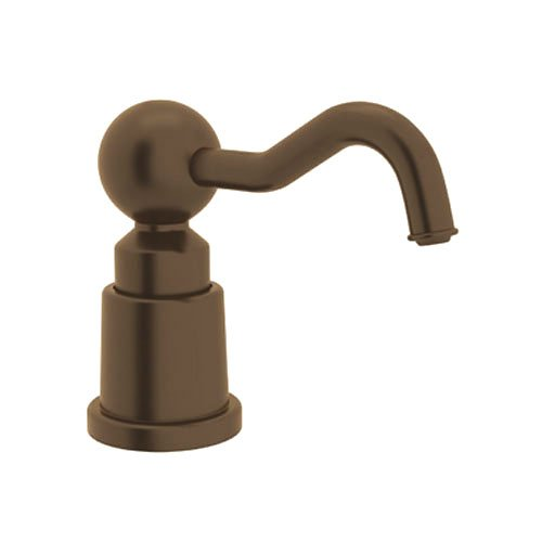 Rohl LS650CTCB Luxury Country Soap/Lotion Dispenser with 3-1/2-Inch Reach and One Touch System, Tuscan Brass by Rohl