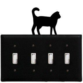 8.25 Inch Cat Quadruple Switch Cover