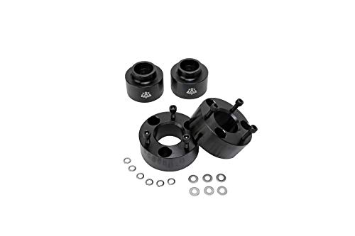 "AA Ignition Leveling Kit Front 3 Inches, 2 Inches Rear - Fits Dodge Ram 1500 2009-2018 4WD 4x4 - Truck 3"" Strut Lift Spacer Set Front 2"" Rear - Forged Aircraft Billet Aluminum Construction"