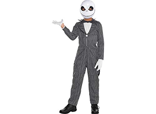 (Party City The Nightmare Before Christmas Jack Skellington Pinstripe Halloween Costume for Boys, Med, with)