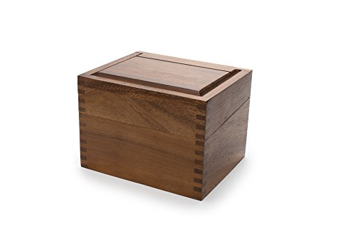 Ironwood Gourmet 28339 Saugatuck Recipe Box, Acacia Wood (And Cards Recipe Box)