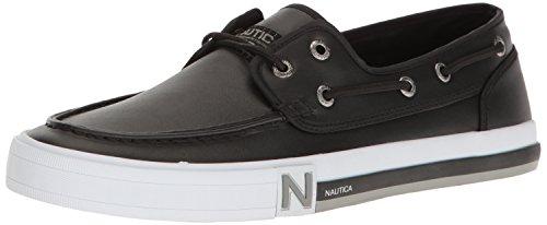 Nautica Men's Spinnaker 2 Pu Boating Shoe Black Smooth 9.5 M US