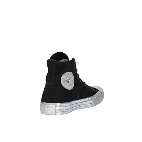 HI CT sneakers Silver Rubber Canvas Black 156763C Converse Nero unisex AS Color 540twqT