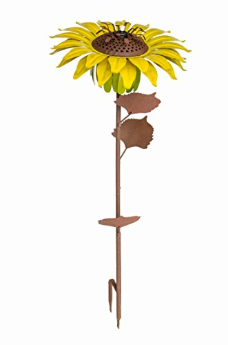 Desert Steel Sunflower - Garden Tiki Torch - 32 Inches Tall - 409-003