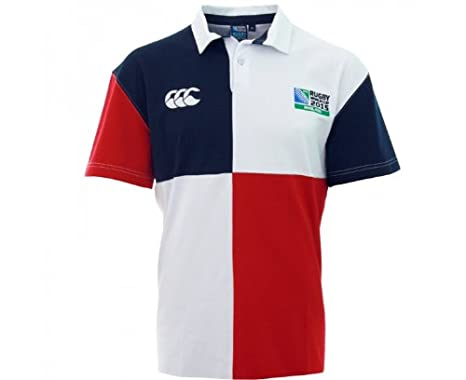 3664a69e2f8 CANTERBURY Rugby World Cup 2015 Harlequin Jersey Rugby Junior,  Bianco/Blu/Rosso,