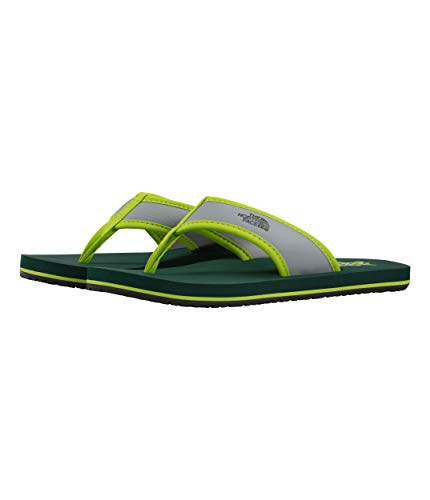 (The North Face Youth Base Camp Flip-Flop, Lime Green/Botanical Garden Green, Size 13 )