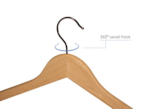 Topline Classic Wood Shirt Hangers - Natural Finish (30-Pack) by Topline (Image #2)
