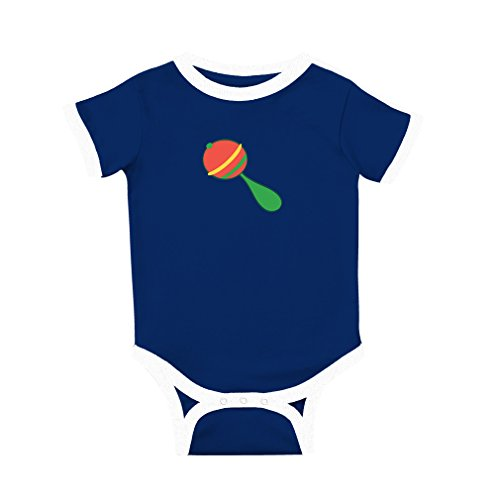 Cute Rascals Baby Maracas Cotton Short Sleeve Crewneck Unisex Baby Soccer Bodysuit Sports Jersey - Royal Blue, 12 Months (Sports Maraca)