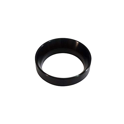 Portafiler ring Aluminuml Dosing Ring Intelligent Coffee powder ring 58MM for Brewing Bowl Coffee Powder Espresso Barista Tool Black/Gold/Stainless steel/Rose Gold No magnetic (Black)