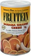 Natures Plus Fruitein Banana Orange Creme - 2.8 lbs, Vegetarian Protein Powder - Whole Food Plant Based Meal Replacement, Vitamins and Minerals for Energy - Gluten Free - 37 Servings ()