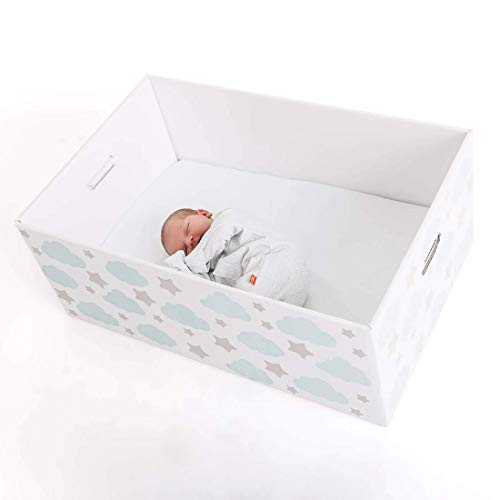 Finnbin Finnish Baby Box Bassinet | Safe & Portable Sleeper for Your Newborn Infant Boy or Girl (Snug Harbor Furniture)