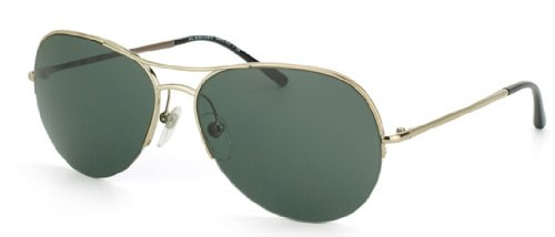 Burberry BE3060 Sunglasses - 1145/71 Burberry Gold (Green Lens) - 57mm